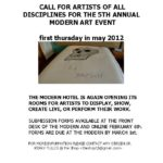 2012 Call to Artists